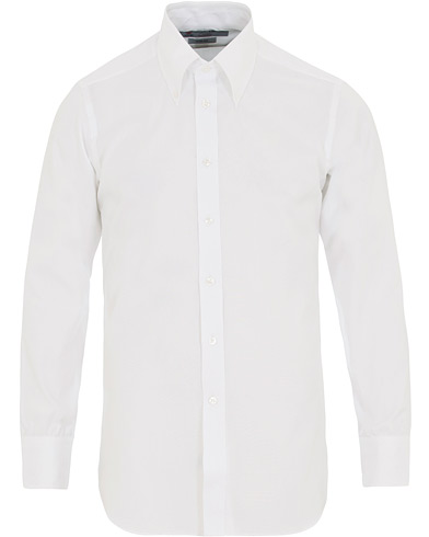 Turnbull & Asser Slim Fit Royal Oxford Button Down Shirt White i gruppen Kläder / Skjortor / Casual / Oxfordskjortor hos Care of Carl (14607411r)