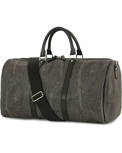 Etro Leather Weekend Bag Black Paisley  i gruppen Accessoarer / Väskor / Weekendbags hos Care of Carl (14626610)