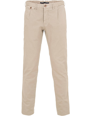 Incotex Slim Fit Single Pleated Trousers Kit i gruppen Kläder / Byxor / Chinos hos Care of Carl (14662411r)