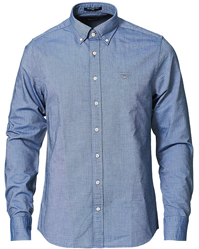GANT Slim Fit Oxford Shirt Persian Blue i gruppen Kläder / Skjortor / Casual / Oxfordskjortor hos Care of Carl (14709211r)