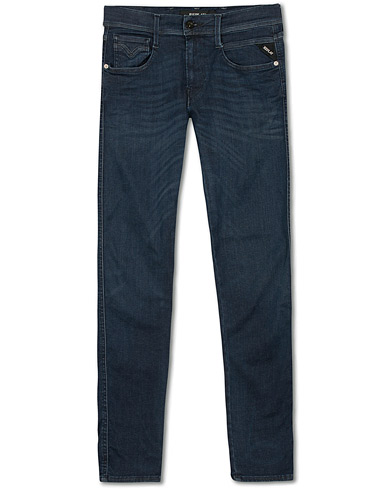 Replay M914 Anbass Hyperflex Jeans Dark Blue i gruppen Kläder / Jeans / Smala jeans hos Care of Carl (14761711r)