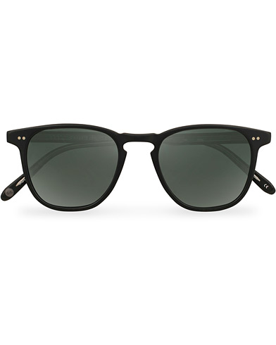 Garrett Leight Brooks 47 Sunglasses Matte Black/Blue Smoke Polarized  i gruppen Accessoarer / Solglasögon / D-formade solglasögon hos Care of Carl (14859710)