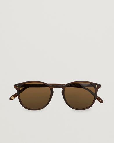 Garrett Leight Kinney 49 Sunglasses Matte Brandy Tortoise/Brown Polarized