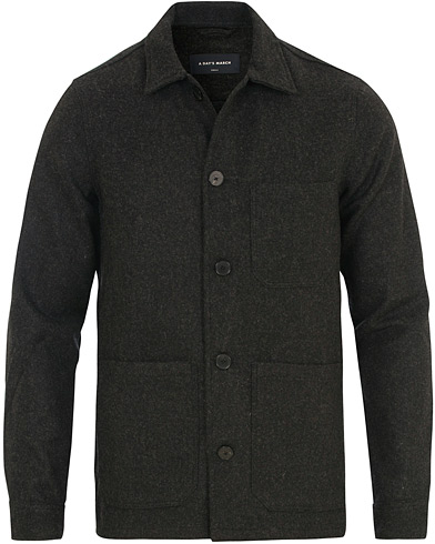 A Day's March Overshirt Wool Charcoal i gruppen Kläder / Skjortor / Casual / Overshirts hos Care of Carl (14911611r)