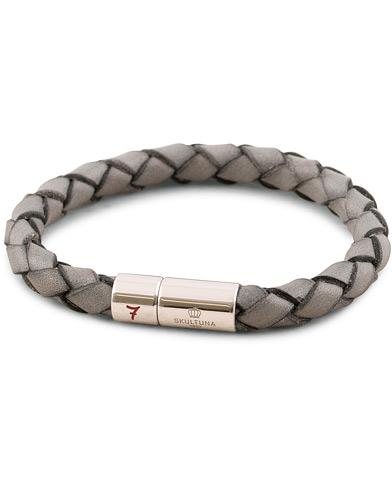 skultuna leather bracelet plaited 7 by lino ieluzzi grey e1f1120e56720
