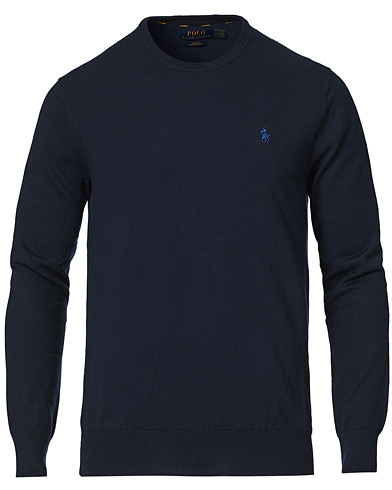 Polo Ralph Lauren Pima Cotton Crew Neck Pullover Hunter Navy i gruppen Kläder / Tröjor / Pullover rundhals hos Care of Carl (14927311r)