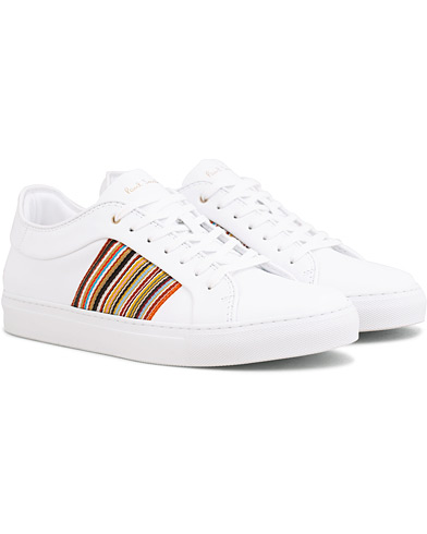 Paul Smith Ivo Leather Stripe Sneaker White i gruppen Skor / Sneakers / Låga sneakers hos Care of Carl (14932311r)