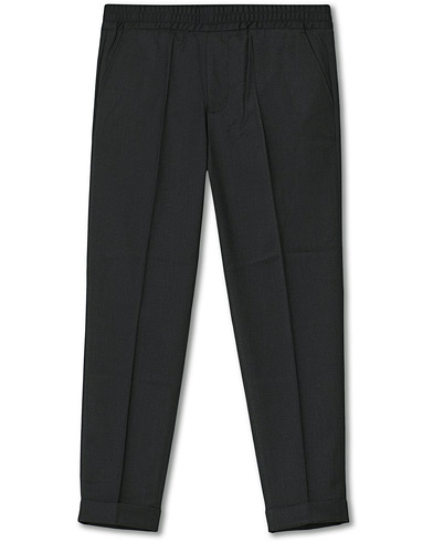 Filippa K Terry Gabardine Cropped Turn Up Trousers Antracite i gruppen Kläder / Byxor / Kostymbyxor hos Care of Carl (15027011r)