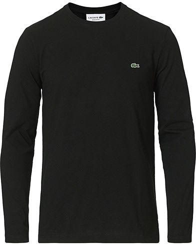 Lacoste Long Sleeve Crew Neck Tee Noir i gruppen Kläder / T-Shirts / Kortärmade t-shirts hos Care of Carl (15035811r)