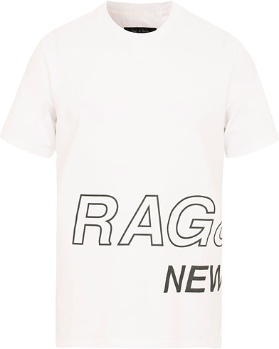 rag & bone RB Wrap Around Tee White i gruppen Kläder / T-Shirts / Kortärmade t-shirts hos Care of Carl (15044111r)