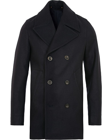 Private White V.C. Wool Melton Peacoat Navy i gruppen Kläder / Jackor / Skepparkavajer hos Care of Carl (15049411r)
