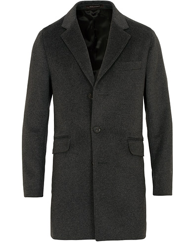 Oscar Jacobson Saks Wool/Cashmere Coat Grey