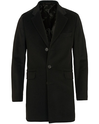 Oscar Jacobson Saks Wool/Cashmere Coat Black