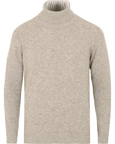 Oscar Jacobson Kristopher Alpaca Wool Rollneck Light Grey