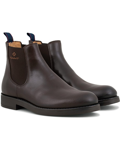 GANT Oscar Chelsea Boot Dark Brown Calf i gruppen Skor / Kängor / Chelsea boots hos Care of Carl (15104111r)