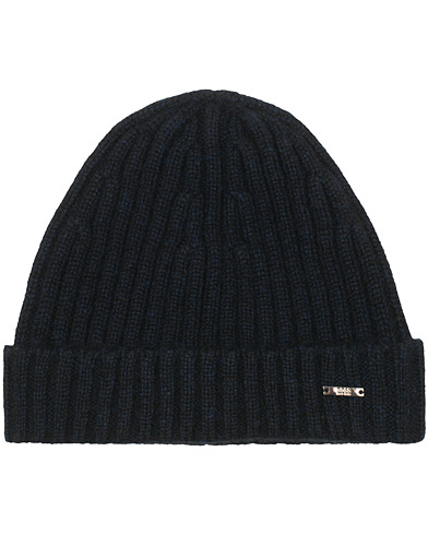 BOSS T-Eraffalero Cashmere Ribbed Hat Open Blue  i gruppen Accessoarer / Mössor hos Care of Carl (15146110)