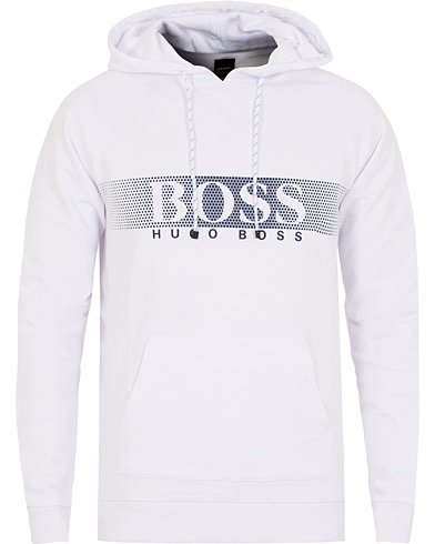 BOSS Logo Hoodie White i gruppen Kläder / Tröjor / Huvtröjor hos Care of Carl (15148011r)