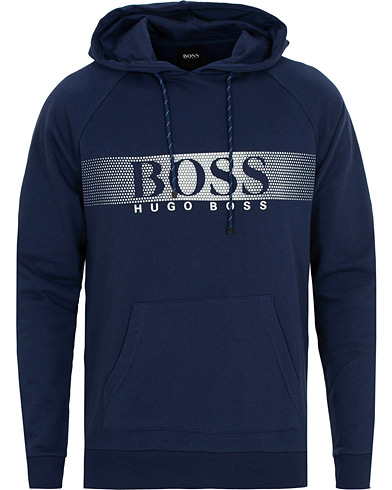 BOSS Logo Hoodie Blue i gruppen Kläder / Tröjor / Huvtröjor hos Care of Carl (15148111r)