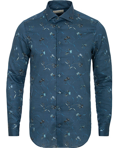 Etro Mercurio Printed Shirt Dark Blue i gruppen Kläder / Skjortor / Casual / Casual skjortor hos Care of Carl (15188611r)