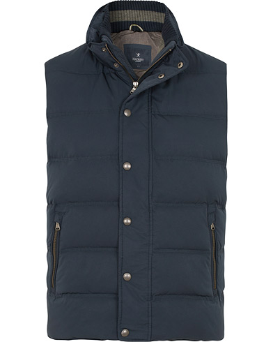 Hackett Classic Down Vest Navy i gruppen Kläder / Västar hos Care of Carl (15192911r)