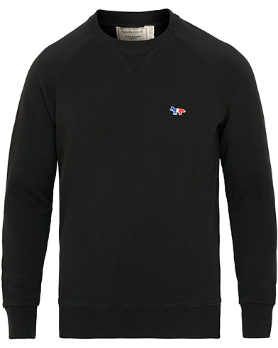 Maison Kitsuné Sweatshirt Tricolor Fox Patch Black i gruppen Kläder / Tröjor / Sweatshirts hos Care of Carl (15199011r)
