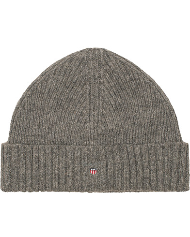 GANT Wool Lined Beanie Dark Grey Melange  i gruppen Accessoarer / Mössor hos Care of Carl (15215810)