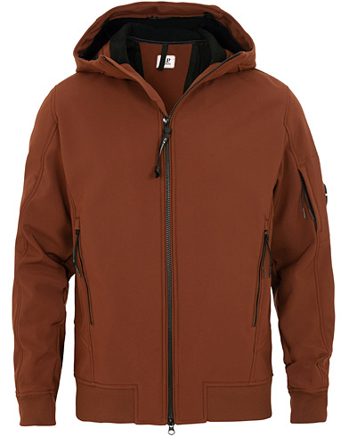 C.P. Company Soft Stretch Shell Jacket Brown i gruppen Kläder / Jackor / Skaljackor hos Care of Carl (15239011r)