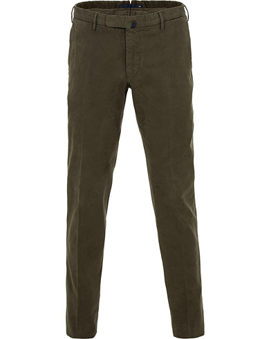 Incotex Slim Fit Comfort Chino Forest Green i gruppen Kläder / Byxor / Chinos hos Care of Carl (15248211r)