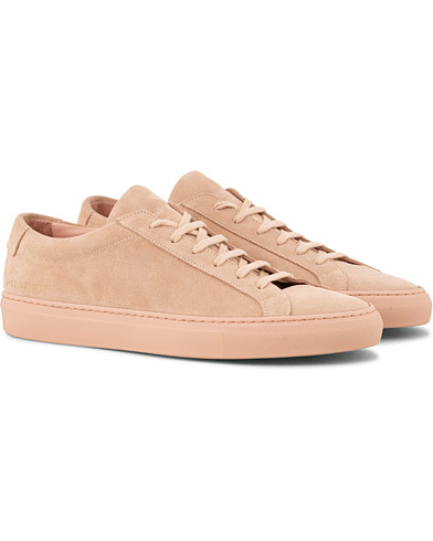 Common Projects Original Achilles Leather Sneakers Pink Suede