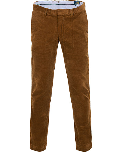 Polo Ralph Lauren Hudson Slim Fit Corduroy Trousers Brown