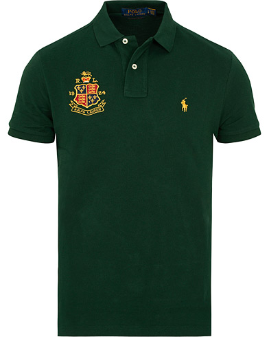 Polo Ralph Lauren Custom Slim Fit Crest Polo College Green