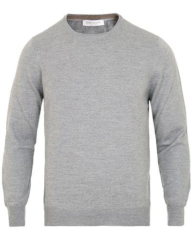 Gran Sasso Merino Fashion Fit Crew Neck Pullover Light Grey