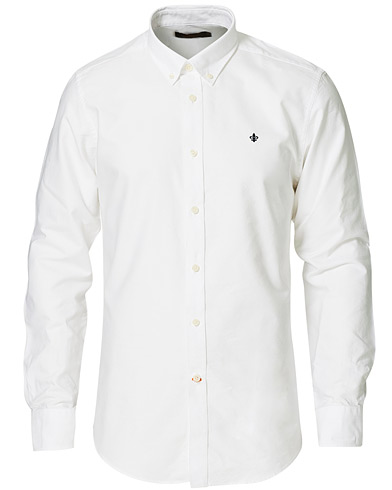 Morris Oxford Button Down Cotton Shirt White i gruppen Kläder / Skjortor / Casual / Oxfordskjortor hos Care of Carl (15342711r)