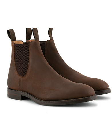 Loake 1880 Chatsworth Chelsea Boot Brown Waxed Suede i gruppen Skor / Kängor / Chelsea boots hos Care of Carl (15350711r)