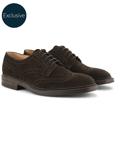 Loake 1880 Chester MTO  Dainite Brogue Dark Brown Suede i gruppen Skor / Brogues hos Care of Carl (15350811r)