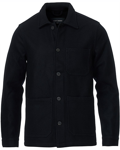 A Day's March Original Overshirt Wool Jacket Navy i gruppen Kläder / Skjortor / Casual / Overshirts hos Care of Carl (15365311r)