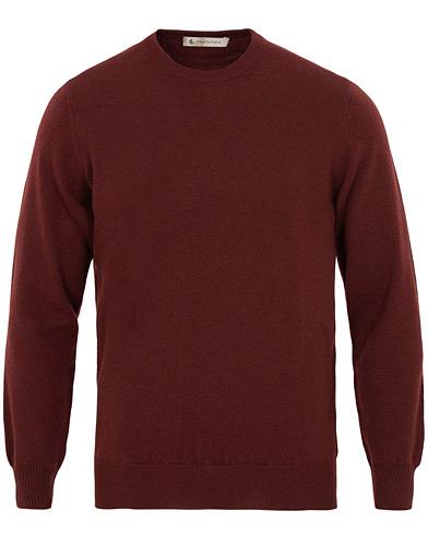 Piacenza Cashmere Cashmere Crew Neck Sweater Burgundy