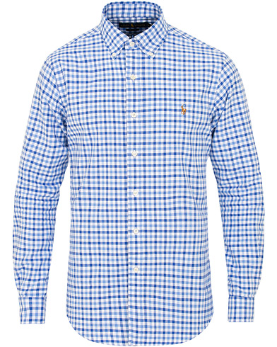 Polo Ralph Lauren Slim Fit Check Shirt Cabana Blue i gruppen Kläder / Skjortor / Casual / Casual skjortor hos Care of Carl (15426411r)