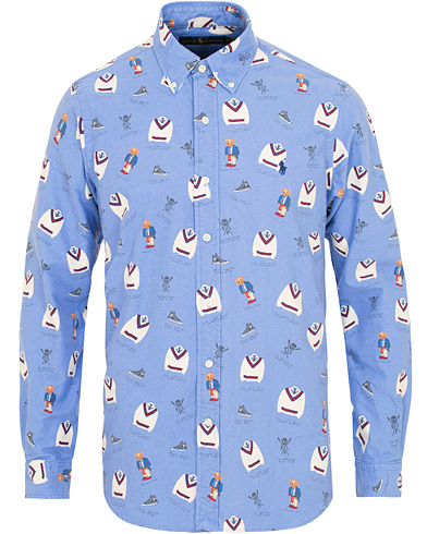Polo Ralph Lauren Custom Fit Oxford Boathouse Bear Shirt Blue i gruppen Kläder / Skjortor / Casual / Oxfordskjortor hos Care of Carl (15427311r)
