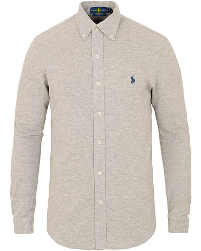 Polo Ralph Lauren Slim Fit Featherweight Shirt Andover Heather i gruppen Kläder / Skjortor / Casual / Pikéskjortor hos Care of Carl (15427511r)