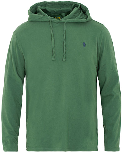 Polo Ralph Lauren Long Sleeve Hoodie Tee Washed Forest i gruppen Kläder / T-Shirts / Långärmade t-shirts hos Care of Carl (15427711r)