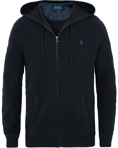 Polo Ralph Lauren Texture Full Zip Hoodie Navy Heather i gruppen Kläder / Tröjor / Huvtröjor hos Care of Carl (15429711r)