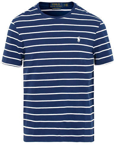 Polo Ralph Lauren Crew Neck Stripe Tee Holiday Navy/White i gruppen Kläder / T-Shirts / Kortärmade t-shirts hos Care of Carl (15434511r)
