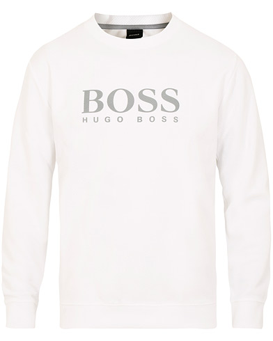 Boss Fashion Logo Crew Neck White i gruppen Kläder / Tröjor / Sweatshirts hos Care of Carl (15442311r)