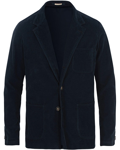 Massimo Alba Baglietto Light Baby Corduroy Jacket Navy Blue