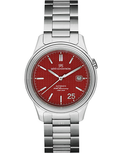 Sjöö Sandström Royal Steel Classic Red with Steel 41mm 25th Anniversary  i gruppen Accessoarer / Klockor hos Care of Carl (15457210)