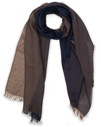 Eton Merino Wool Block Coloured Scarf Blue  i gruppen Accessoarer / Scarves hos Care of Carl (15459010)