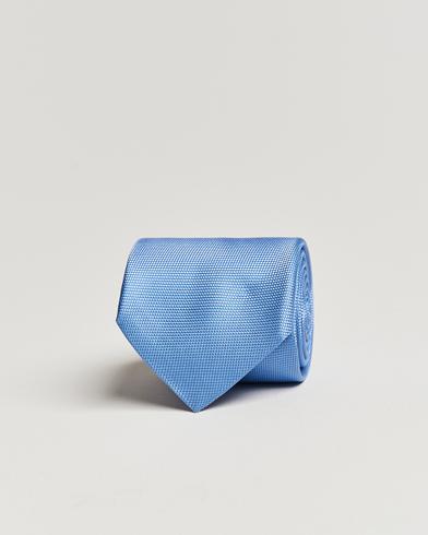 Eton Silk Basket Weave Tie Light Blue