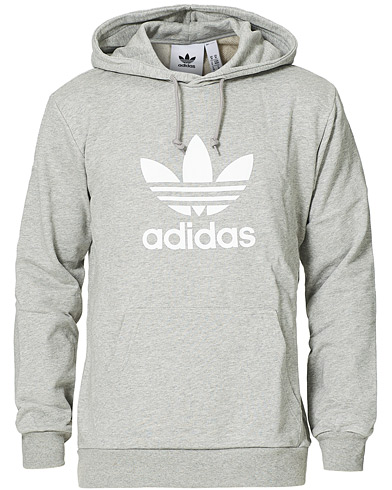 adidas Originals Trefoil Hoodie Medium Grey Heather i gruppen Kläder / Tröjor / Huvtröjor hos Care of Carl (15464411r)