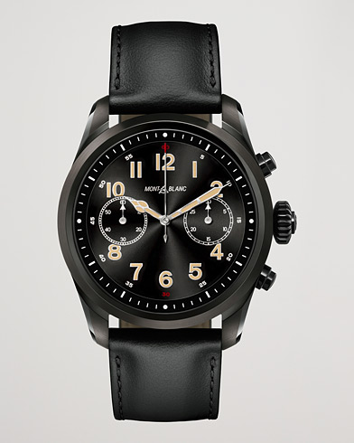 Montblanc Summit2 42mm Smartwatch Steel Black DLC / Black Calf  i gruppen Accessoarer / Klockor hos Care of Carl (15470510)